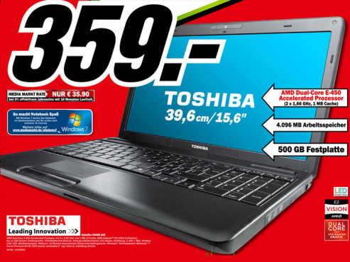 Toshiba Satellite C660D-1HC © Media Markt