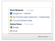 Google Chrome 19: Beta-Version syncronisiert Tabs zwischen verschiedenen Versionen ©Google