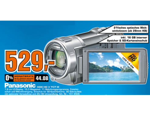 Panasonic HC-V707 © Saturn