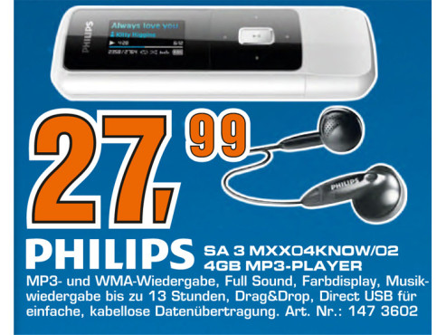 Philips GoGear Mix 4GB © Saturn