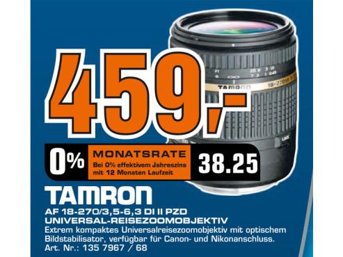 Tamron AF 18-270mm f3.5-6.3 Di II VC PZD [Canon] ©Saturn
