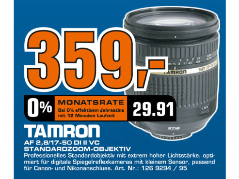 Tamron SP AF 17-50mm f2.8 XR Di II VC LD Aspherical IF [Canon] © Saturn