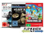 Der Online-Ankaufdienst kauft alte und defekte Spiele an. ©Nintendo, Sony, THQ, Flip4New