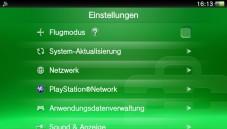 Sony PS Vita: Einstellungen ©Sony