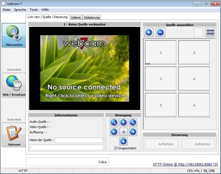 webcam überwachungssoftware kostenlos