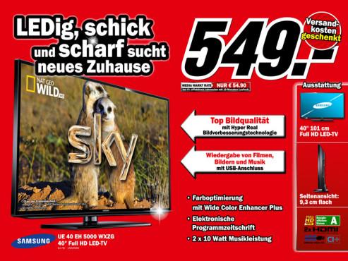 Samsung UE40EH5000 ©Media Markt