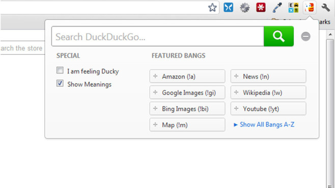 DuckDuckGo for Chrome © DuckDuckGo