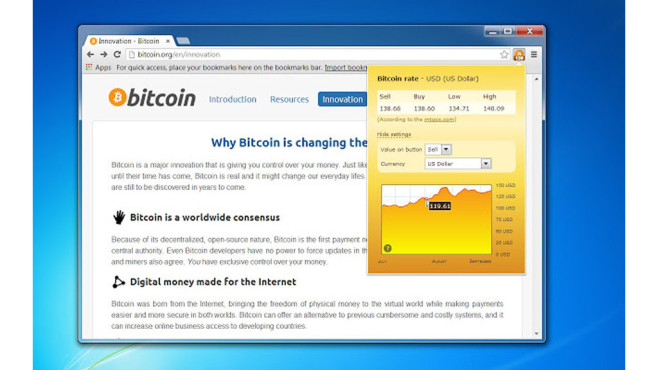 News und Wetter: Bitcoin Browser Extension © Konstantin Petrov