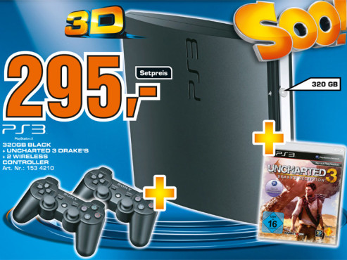 Sony Playstation 3 mit Spiel ©Saturn
