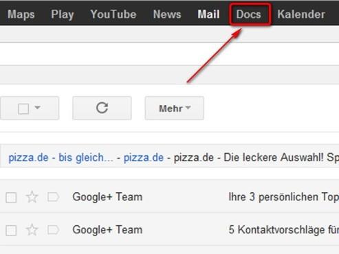 Klicken Sie auf Docs ©Google