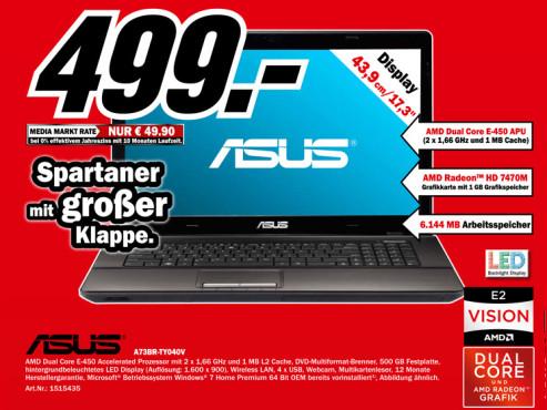 Asus A73BR-TY040V ©Media Markt