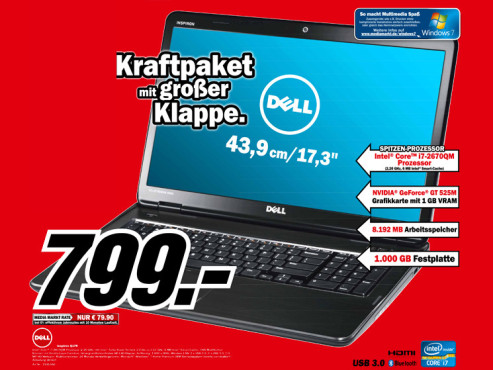 Dell Inspiron Q17R © Media Markt