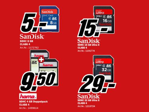 Diverse Speicherkarten ©Media Markt