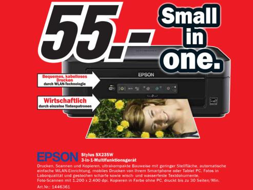 Epson Stylus SX235W ©Media Markt