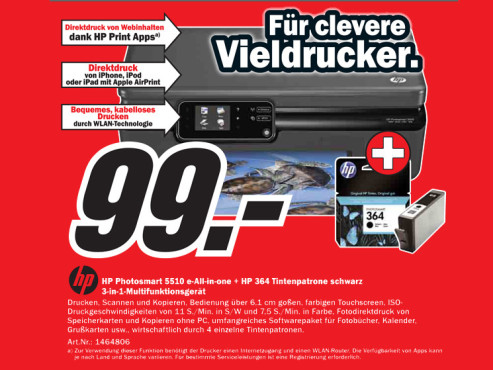 Hewlett-Packard Photosmart 5510 © Media Markt