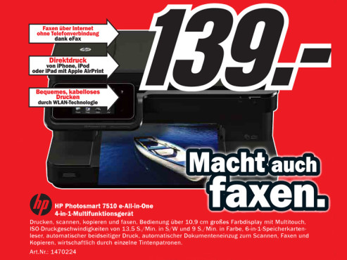 Hewlett-Packard Photosmart 7510 C311a © Media Markt