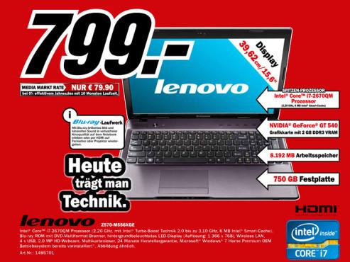 Lenovo Z570-M556XGE ©Media Markt
