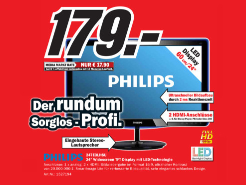 Philips 247E3LHSU © Media Markt