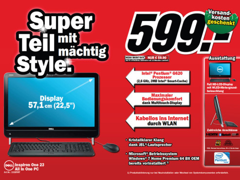 Inspiron One 23 © Media Markt