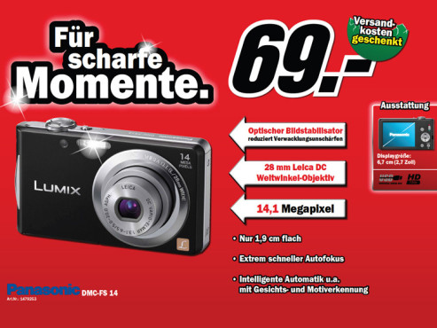 Panasonic Lumix DMC-FS14 © Media Markt