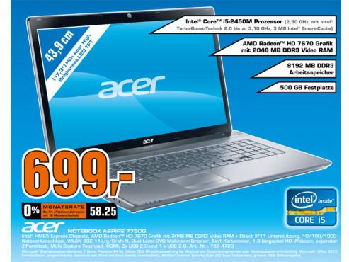 Acer Aspire 7750G ©Saturn