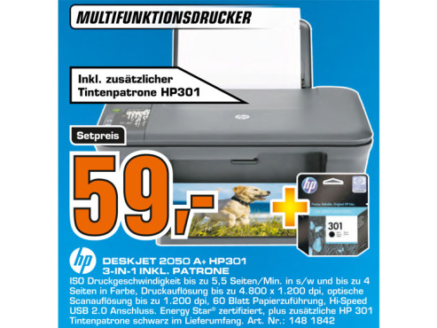 Hewlett-Packard HP Deskjet 2050A © Saturn