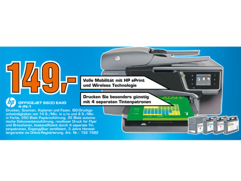 Hewlett-Packard HP Officejet 6600 © Saturn