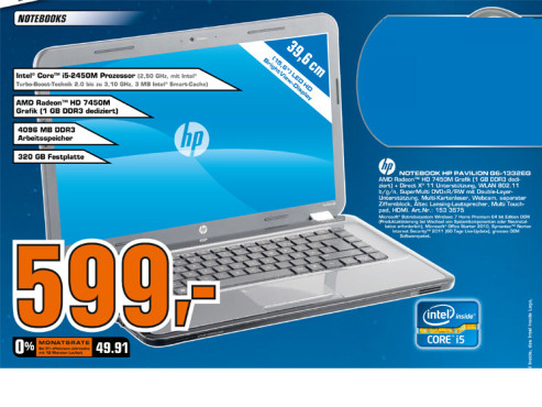 Hewlett-Packard HP PAVILION G6-1332EG © Saturn