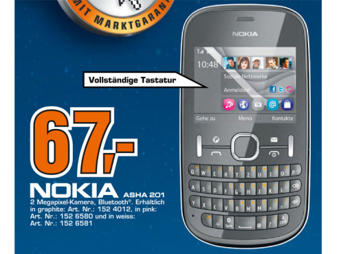 Nokia Asha 201 ©Saturn