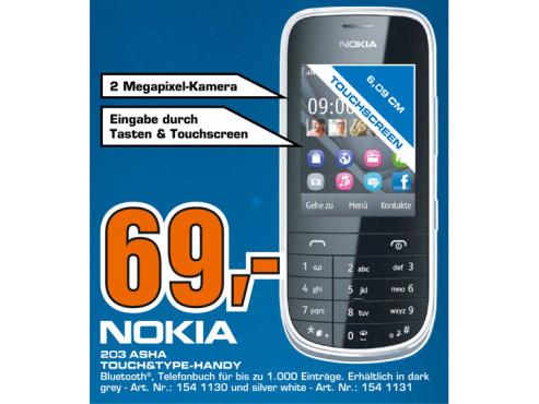 Nokia Asha 203 ©Saturn