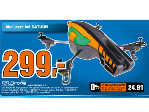 Parrot AR.Drone RTF Quadcopter © Saturn