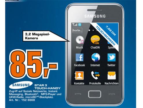 Samsung Star 3 (S5220) ©Saturn