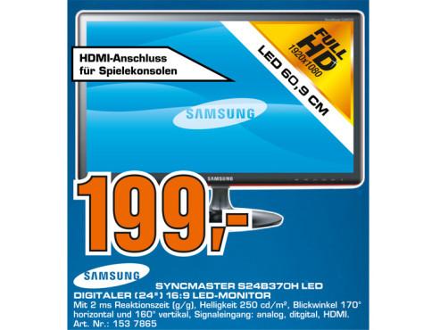 Samsung SyncMaster S24B370H ©Saturn