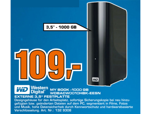Western Digital My Book Essential SE USB 3.0 1TB © Saturn