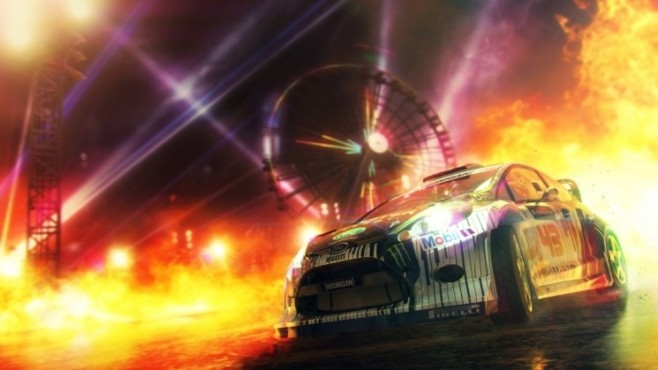 Rennspiel Dirt Showdown: Feuer © Codemasters