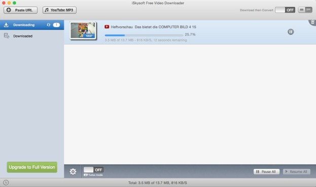 Screenshot 1 - Free Video Downloader (Mac)