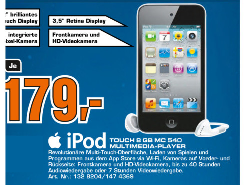 Apple iPod touch 4 Generation 8GB © Saturn