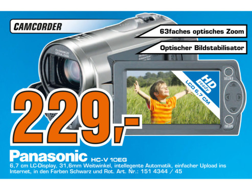 Panasonic HC-V10 © Saturn