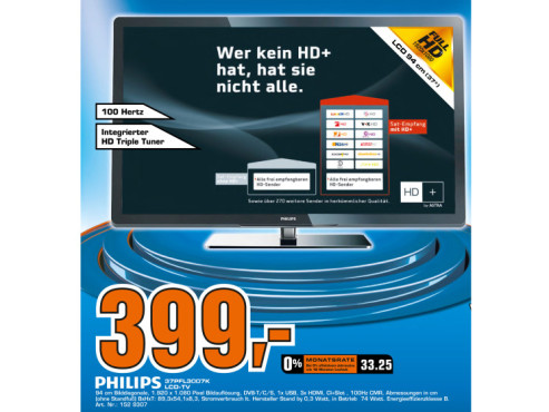 Philips 37PFL3007K © Saturn