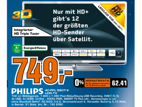 Philips 40PFL5507K © Saturn