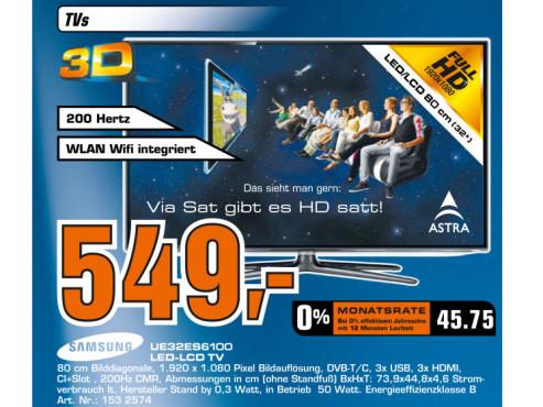 Samsung UE32ES6100 ©Saturn