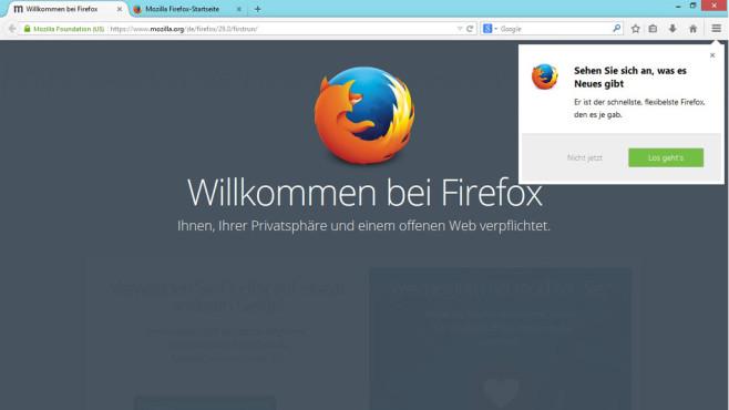 Mozilla Firefox 29 ©COMPUTER BILD