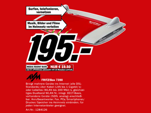 AVM FRITZ!Box Fon WLAN 7390 © Media Markt