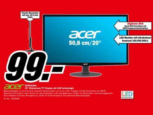 Acer S200HLBbd ©Media Markt