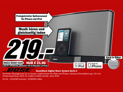 Bose SoundDock Serie II ©Media Markt