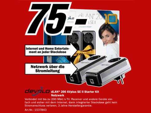 Devolo dLAN 200 AVplus SE Starter Kit schwarz ©Media Markt