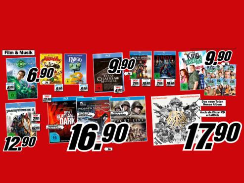 Diverse CDs, DVDs und Blu-rays ©Media Markt