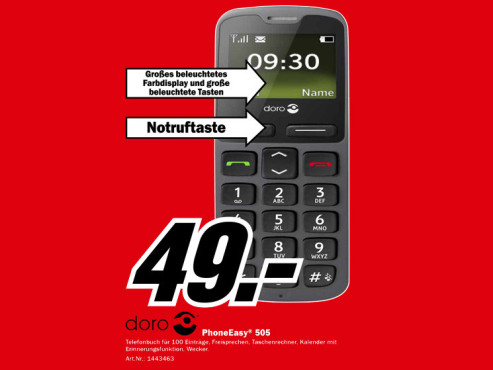 Doro PhoneEasy 505 © Media Markt