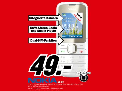 Nokia C2-00 ©Media Markt