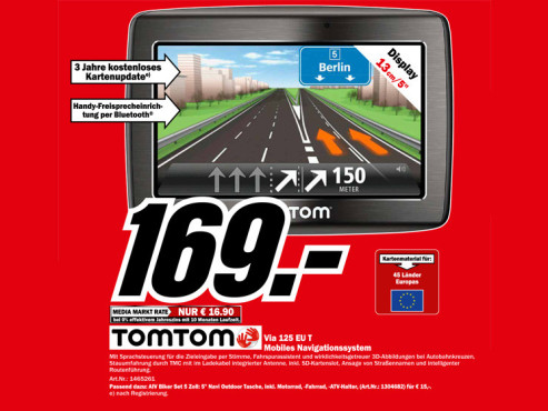 TomTom Via 125 Traffic Europe © Media Markt
